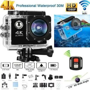 Cámara de acción deportiva 4K Ultra HD Wi-Fi Sports Cam 16mp 98ft Impermeable