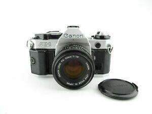 Canon-AE-1-Program-SLR-Spiegelreflexkamera-Lens-FD-50mm-1-1-8