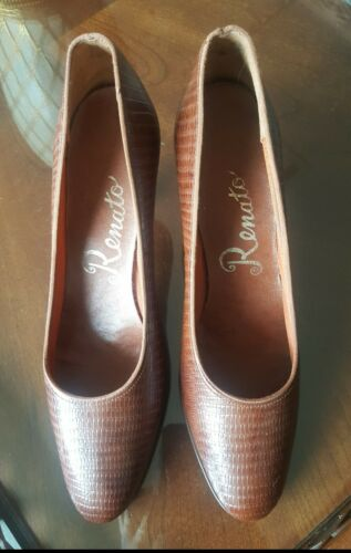 1950s-1960s ladies Renato brand alligator leather