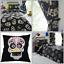 Sugar-Skulls-Reversible-Tattoo-Duvet-Quilt-Cover-Set-Bedding-Range-Black-Multi thumbnail 1