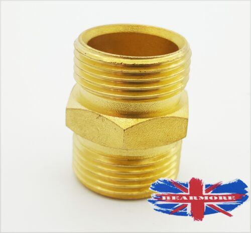 """3//4/"""" x 3//4/"""" BSP Male Thread Brass Hex Nipple Hydraulics Pneumatics Fitting"""