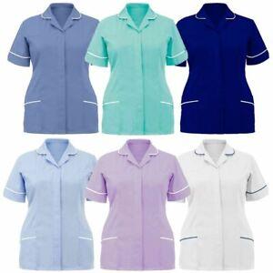 Healthcare Tunic Tops Womens Healthcare Tunic Uniform Christmas Printed Tops Short Sleeve Christmas Tshirt Nurses Uniform Working Set Suit Hospital Workwear Medical Doctors Top