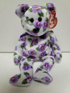 "Ty Beanie Babies Nara Asia-Pacific 8"" 20cm New- MWMT-Beautiful Flowered Bear"
