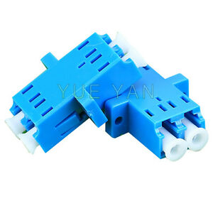 100-PCS-High-Quality-Fiber-Optic-Single-Mode-LC-Duplex-Optical-Fiber-Adapter