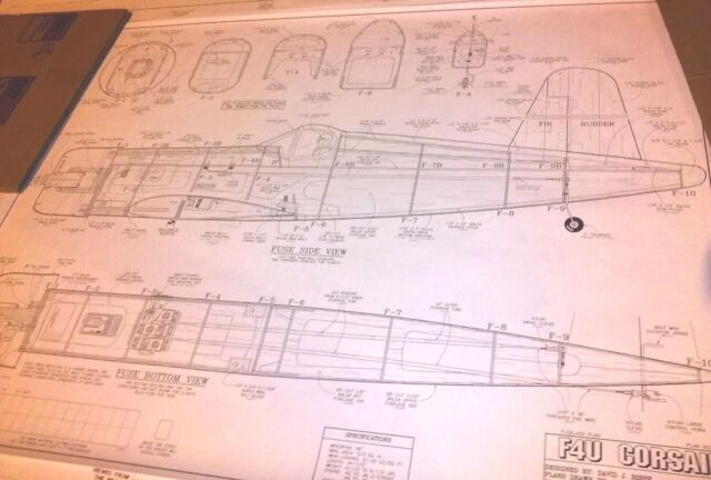 Great Planes F4u Corsair  40 Scale Model Airplane Plans * 56 Inch Wing  CRS4P01R