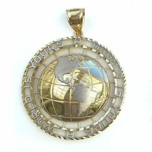 White Gold World Is Yours Globe Pendant