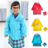 New Cute Cartoon Children Poncho Raincoat Baby Boys Girls Hooded Poncho Raincoat