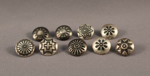 Navajo Sterling Silver Buttons  9 Buttons