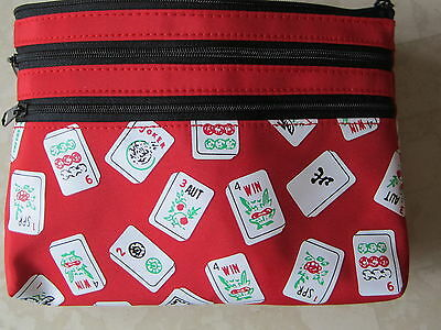 Mah Jongg Three Zippered Purse  Bag to hold Card and Money