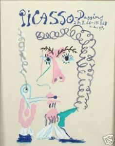 PICASSO-LITHOGRAPH-AFTER-MAN-SMOKING-PIPE-LE-FUMEUR