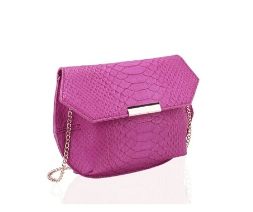 New Hexagon Handbag Over Body Bag in Pink or Grey with Detachable Chain Strap