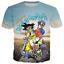 Femmes Hommes Cool Goku et Chichi conduite dragon ball Imprimer Loisirs 3D T-Shirt Tee