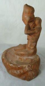 FEMME-A-LA-CRUCHE-TERRE-CUITE-ORIGINAL-1900-EN-L-039-ETAT-ART-NOUVEAU-D259