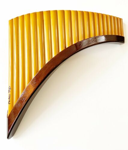 varnished Professional 22 Tubes Pan Flute Made It Of Bamboo Tuned In G Major