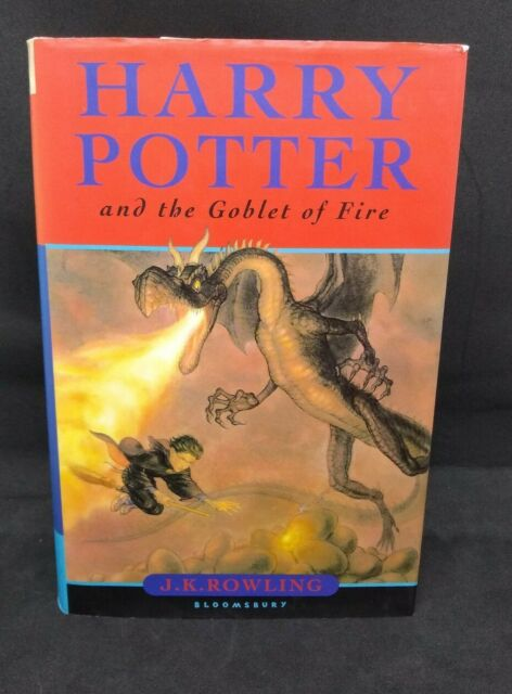 Harry Potter and The Goblet of Fire Hardback 1st First Edition with Print Errors