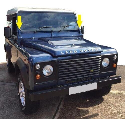 Buckingham Blue covers for Windscreen-Bulkhead bracket Land Rover Defender