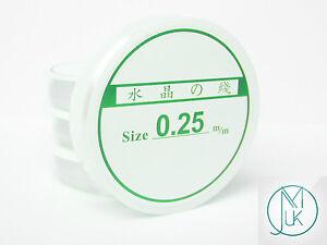Clear-Nylon-Monofilament-Spool-Beading-String-Nonelastic-0-25-0-35-0-45