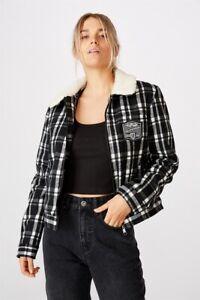 AFL Womens Sherpa Jacket Jackets  In  Collingwood