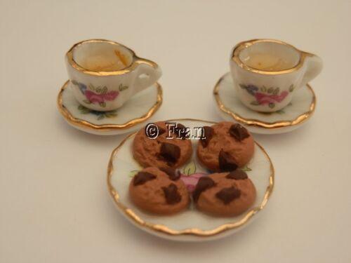 Casa De Muñecas alimentos Tea /& galletas de chocolate para dos-por Fran