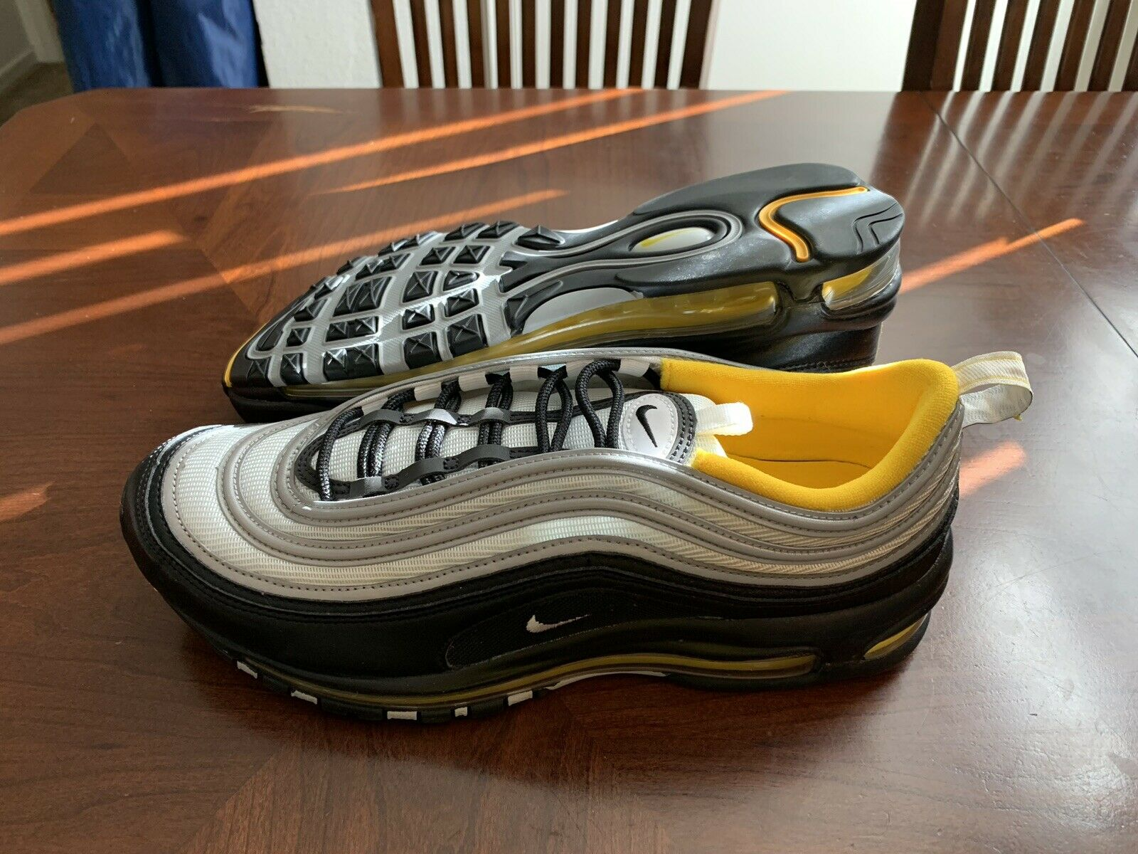 Nike Air Max 97 Steelers Black White yellow Sneakers Size 11.5 921826-008
