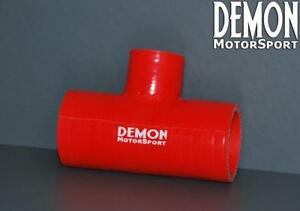 Red-Silicone-Hose-T-Piece-41mm-25mm-Branch-4-Ply-Demon-Motorsport