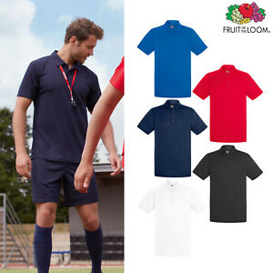Fruit-of-the-Loom-Men-039-s-Performance-Polo-T-Shirt-Light-Polyester-Sport-Casual
