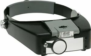 10-5X-POWER-LED-LIGHTED-MAGNIFYING-GLASS-HEADSET-VISOR-MAGNIFIER-JEWELRY-REPAIR