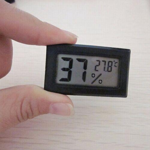 Black Gauge Monitor Meter Digital Display Hygrometer Humidity LCD Thermometer /&1