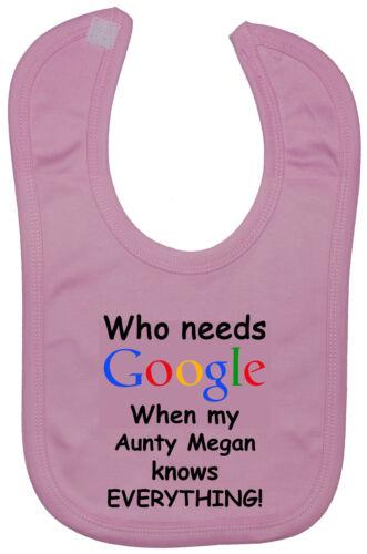Google personnalisé tantine.. 3y garçon fille touch fastener baby feeding bibs nouveau-né