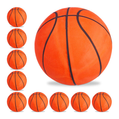 10 x Basketball Size 7 Orange Rubber Basketball for Sports /& Training