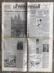 N56-La-Une-Du-Journal-Le-Petit-Parisien-7-Mai-1931