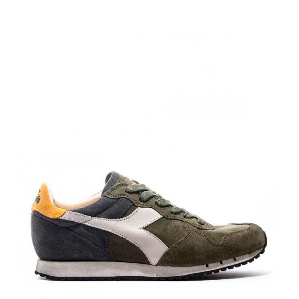 shoes DIADORA men TRIDENT_S_SW_C7162_green-blue HERITAGE PELLE SCAMOSCIATA