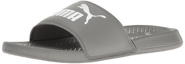 Puma popcat diapositive castor, grigio e bianco sandali infradito mens sz 10 nuovi pennino | Il materiale di altissima qualità  | Uomini/Donna Scarpa