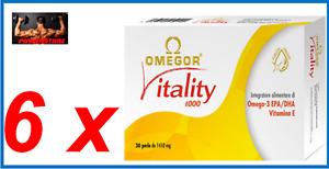 Omegor Vitality 1000 Integratore Alimentare Omega-3 (EPA + DHA , Vitamine E) (45 perle)