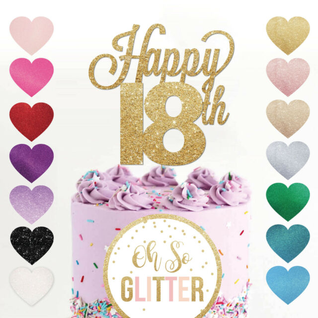 Tremendous Happy 18Th Birthday Cake Topper Eighteen Daughter Son Nephew Niece Funny Birthday Cards Online Fluifree Goldxyz