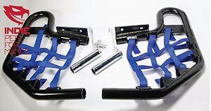 Yamaha-Banshee-350-2004-2013-Quad-ATV-Nerf-Bars-Nets-Fittings-Blk-A-BlueN-10