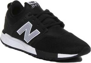 Details about New Balance 247 Classic Men Mesh Running Trainers In Black  Silver Size UK 6 - 12