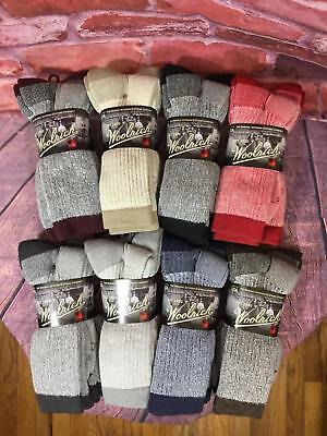 Woolrich Superior DAY HIKER Socks MEDIUM WEIGHT 2 PAIR  MADE IN USA ARCH SUPPORT