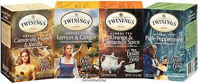 BEAUTY AND THE BEAST COMPLETE LIMITED EDITION TWININGS HERBAL TEA COLLECTION