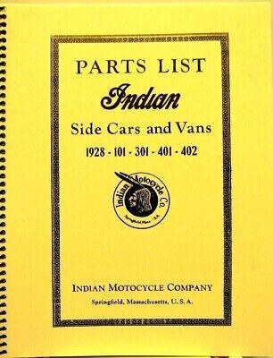 1928 Indian Moto Lista Ricambi, Laterali Cars & Vans 101-301-401-402 Auto Styling Aggiornato