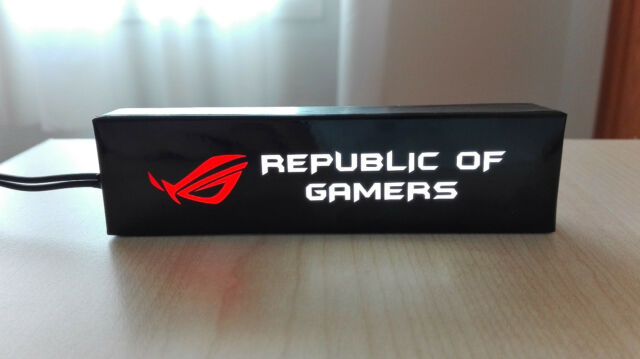 Logo iluminado para pc ASUS ROG GTX, RX, i7 i5, I3, AMD FX, 1155, 1150, AM3, AM2