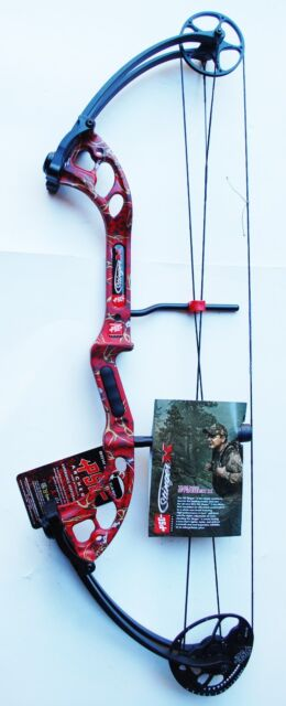 New PSE Archery Stinger X 60# RH Compound Bow Red Skullworks 2