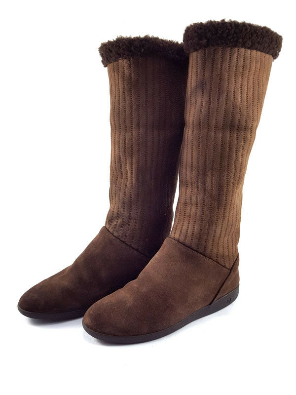 BALLY Brown Suede, knee high boots, Size low heels, Women's shoe Size boots, US 7, 0e272c