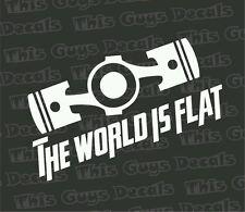 The world is flat decal jdm vinyl turbo race  window car stickers subaru illest