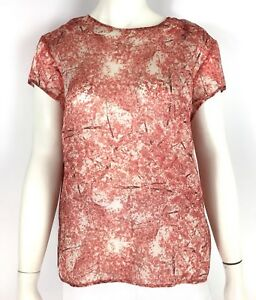 59a068099171 Lord & Taylor 424 FIFTH Cherry Blossom Print Blouse Silk Crepe ...