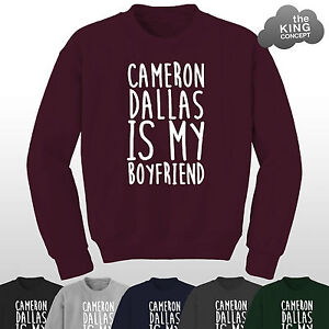 Cameron-Dallas-is-Mio-Ragazzo-Felpa-Maglioncino-Maglione-Vino-Bae-or-Nah-Tifosa