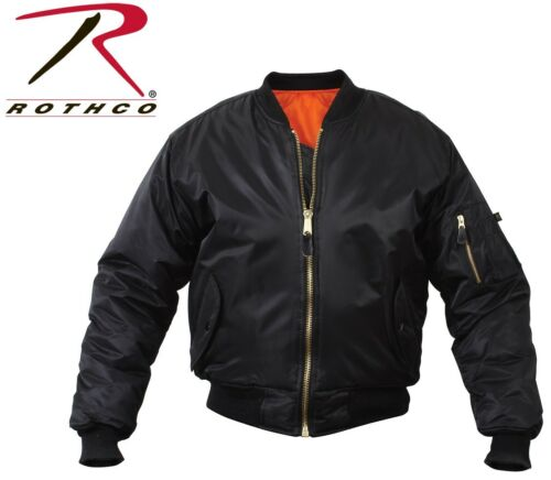 Rothco Flight Jacket Military Style MA-1 Reversible Bomber Coat Aviator Jacket
