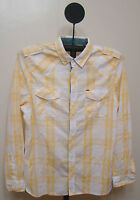 Buffalo Dark Yellow & White Checked Slim Fit Long Sleeve Casual Shirt - Size 2x