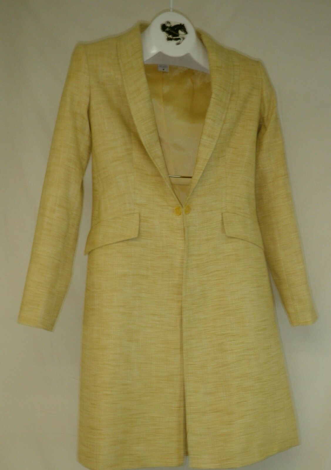 Reed  Hill Ladies Saddleseat Day Coat Yellow Linen Poly   Blend size 14 - USA  sale online save 70%