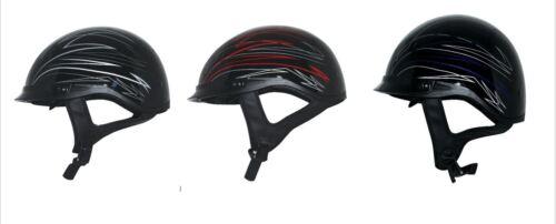 Adult Zox Roadster DDV Motorcycle Half Helmet Ignite Graphic